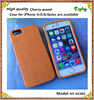 Cool wood back cover case for smartphone iPhone 6, Genuine wood 2 in 1 case for iPhone 6 4.7 inch phone accessories