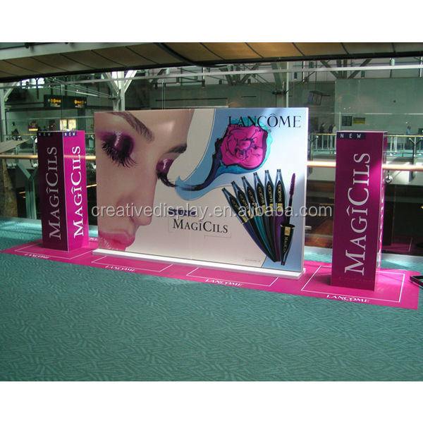 USA Mall large acrylic cosmetic display cabinet and showcase,cosmetic eyeshadow display