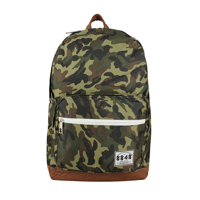 Korean canvas printing backpack women school bags camouflage