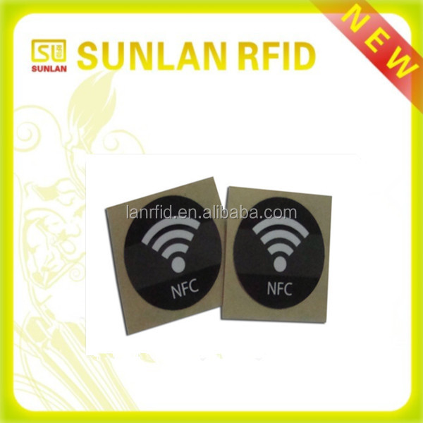 Iso standard 13.56MHz rewritable passive nfc pvc proximity sticker for access control (professional maunfacuturer)