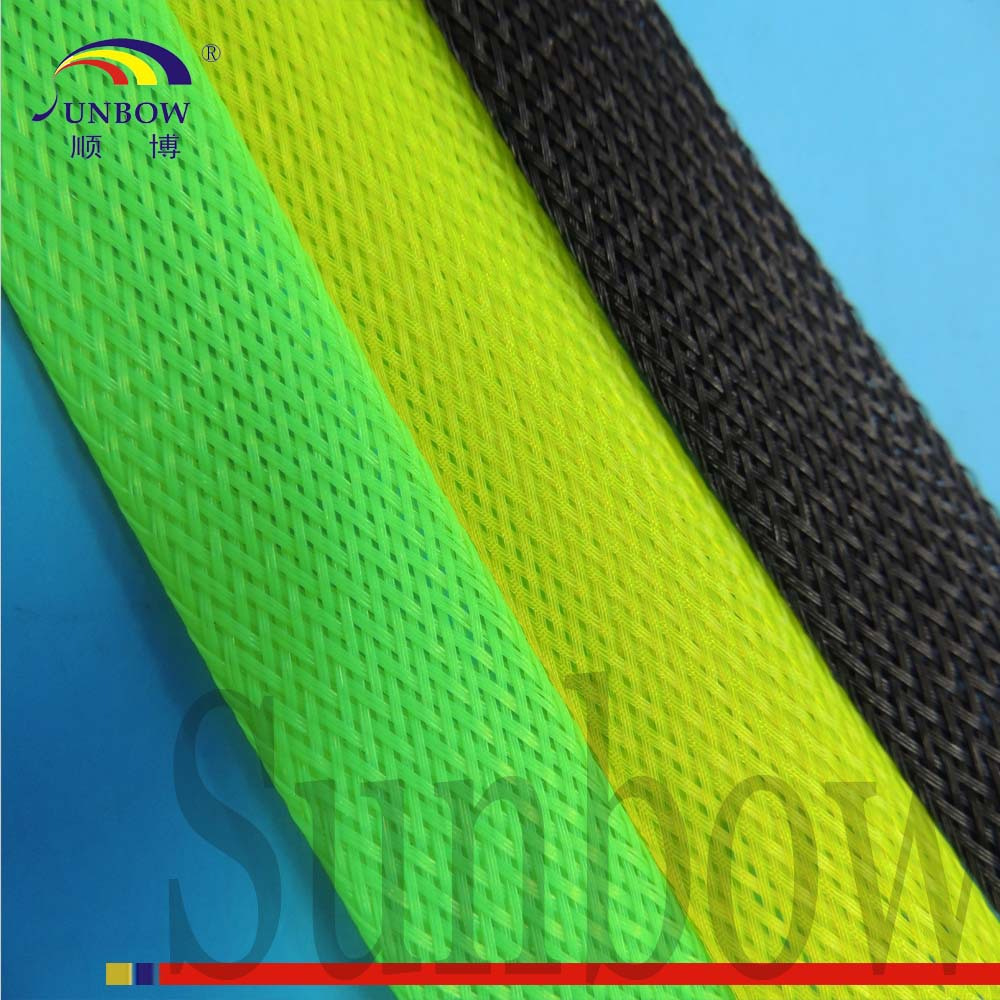 Bright Green High Quality Expandable Braided Sleeving for Spinning Rods