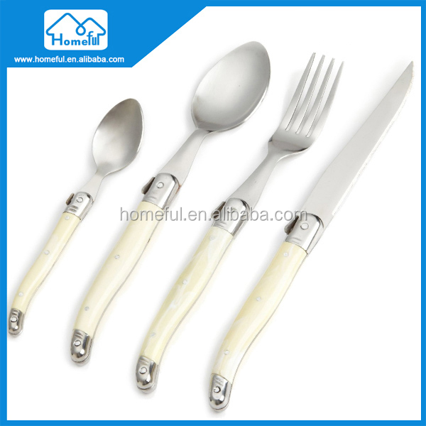 4 Pieces Plastic Knife Fork Spoon