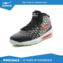 ERKE wholesale brand performance high ankle mens basketball shoes with half air cushion