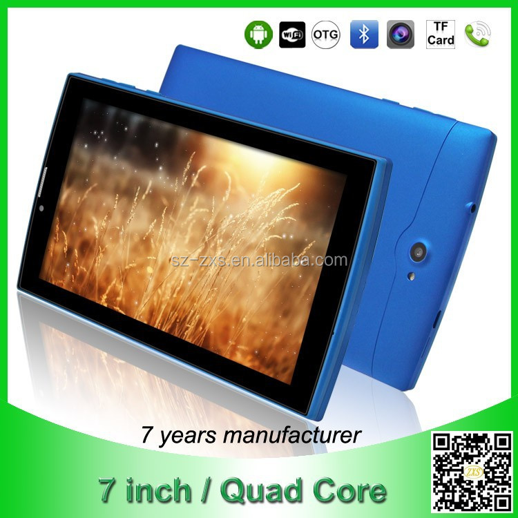 ZXS-S706 Quad Core 3g dual sim card touch screen tablets PC MID wholesale china import smart mini tablet