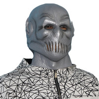 X-MERRY Halloween Party Decoration Full Face Latex Silver Surfer mask Dresses for Party