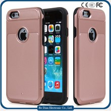 Factory Hot Selling PC and TPU Hybrid Material Shockproof Anticollision Cell Phone Case For iPhone 6 in 4.7''