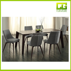 wooden dinning room set luxury furniture MDF dining table set
