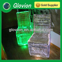Luminous fabric is optical fiber woven with plain fabrics Flashing chair cover Optical fiber led flashing chair cover