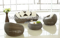 Sofa Manufacturer Poly Rattan Outdoor Furniture Round Shape sofa