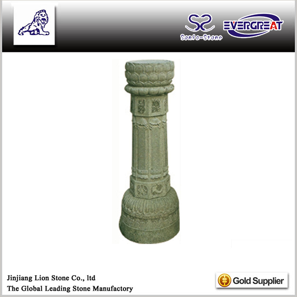 Popular designs low price marble faux decorative columns