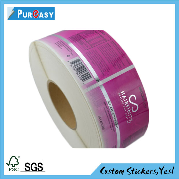 Custom supplement label lose weight product sticker