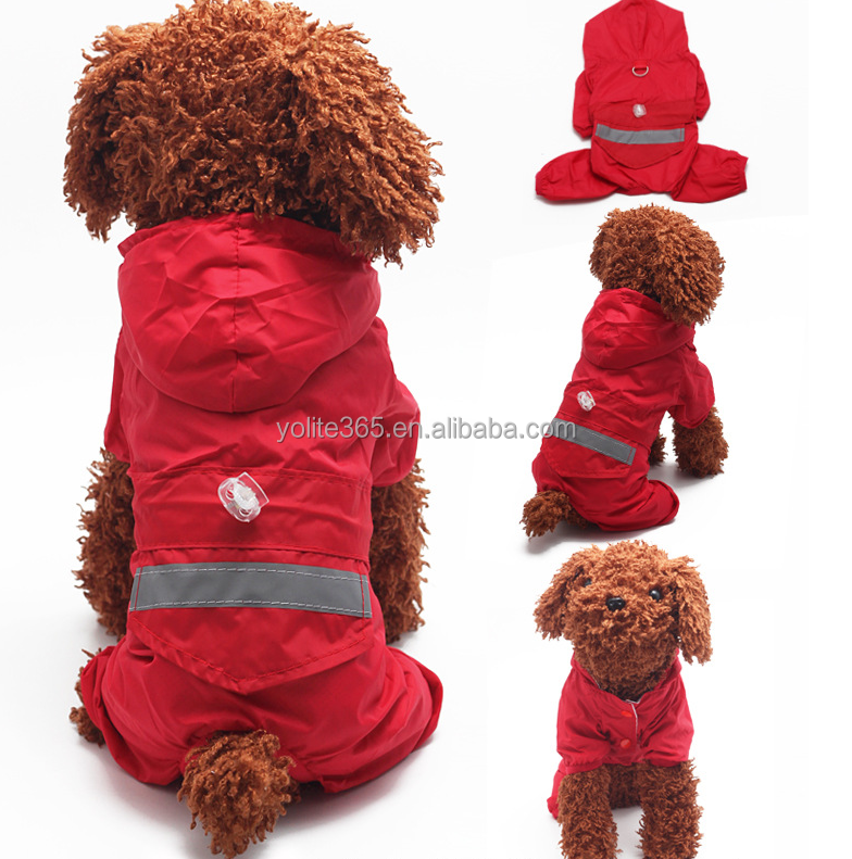 Fashionable pet dog raincoat