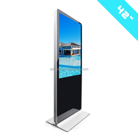 42 inch interactive kiosk with touch screen/RFID card reader/touch screen advertising display