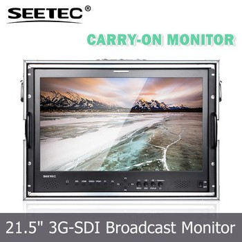 21.5 inch dslr movie making portable IPS screen monitor for HDMI SDI carry-on display outdoor shooting
