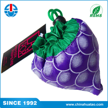 Fugang Cheap Printed Eco Friendly The Grape Shape Nylon Folding Shopping Bags