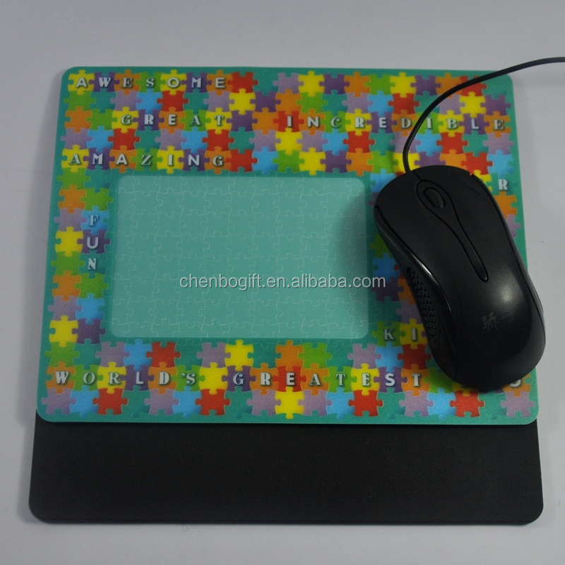 Customized photo insert mouse pad, photo frame mouse pad with full color printing