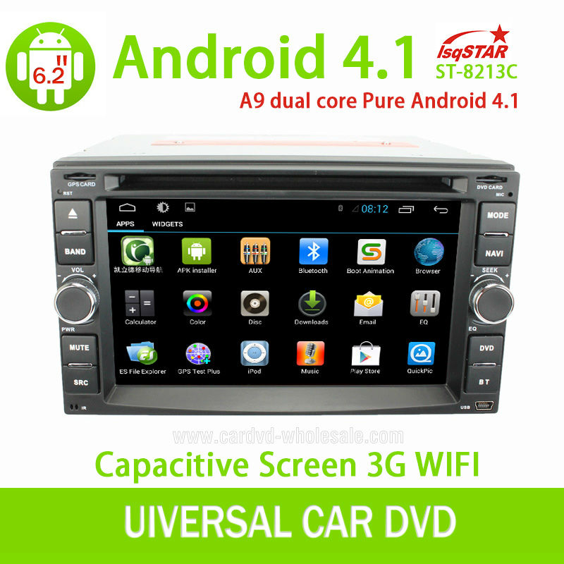 LSQ Star 2Din Capacitive Android Universal Car stereo gps with OBD 3G WiFi Multi-touch CPU 1.5GHZ ROM 8G