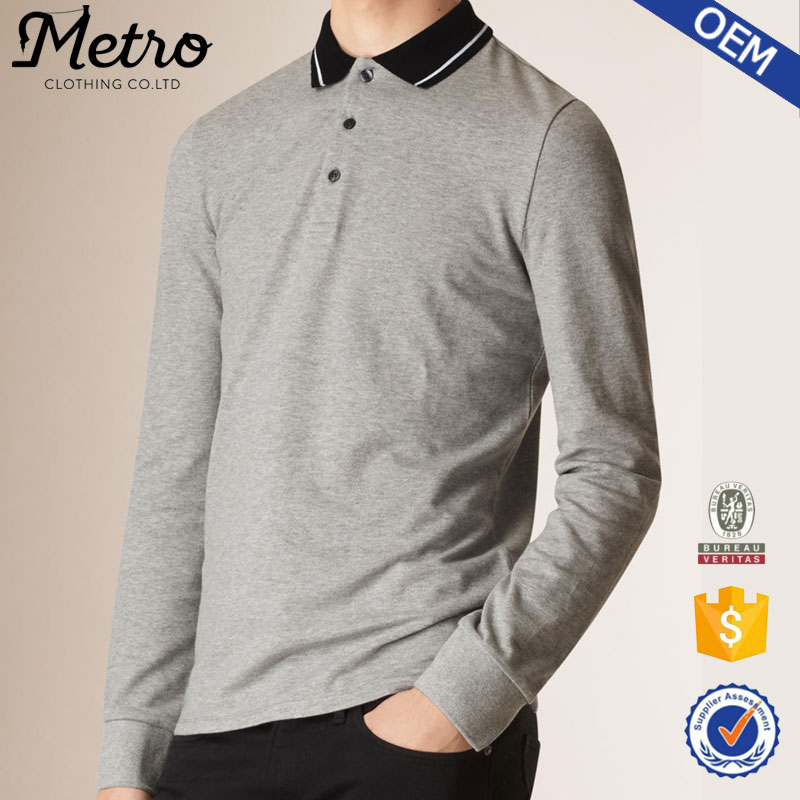 Wholesale Newest grey cotton polo shirt ,polo t shirt