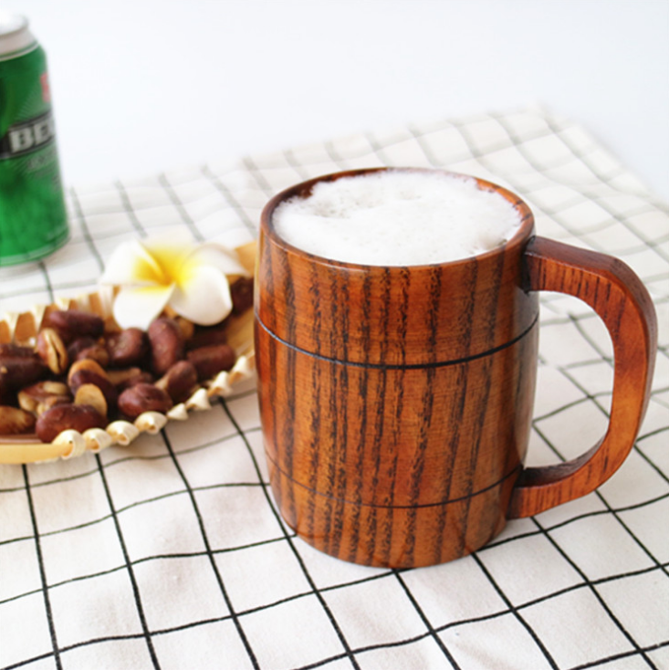 Cup Wooden Cup Primitive Handmade Natural Wood Beer Water Mug