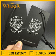 custom design clothing paper price tags for shoes and bags