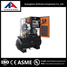 Electrical belt driven teco rotary small screw compressor 7.5kw cheapest price for industry