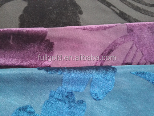 100% Polyester velvet fabric jacquard with p/d velour fabric Keqiao supplier