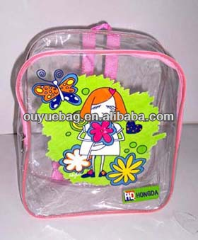 Customized printted PVC kids school bags/kids PVC back pack