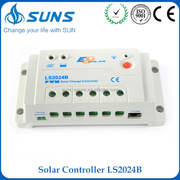 2017 new 12V/24V system voltage auto identification auto solar charge controller with light & timer control