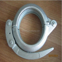 Galvanizing snap/quick clamp for concrete pump pipe connecting