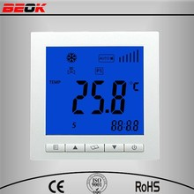 Temperature switch for 2 pipe fan coils, thermostat switch ModBus RS485