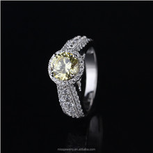 New arrived luxury lady jewellery 18k white gold engagement ring, engagement ring in 916 gold