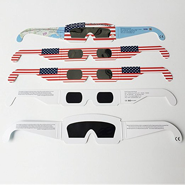 custom wholesale popular WMG-38 hot sell cheap paper eye 3d glasses total solar eclipse glasses for promotion gifts