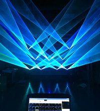 Nightclub 6W full colors laser show projector advertising logo light show system with all diodes configurated.