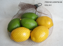 2015 New Artificial Fake Fruits Artificial Polyfoam lemon Packed in Plastic Gift bag House Decoration