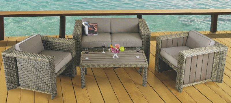 2014 Hot Sell All Weather rattan effect garden furniture