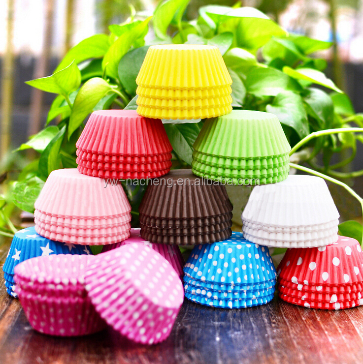 Mixed Colorful Paper Baking Cupcake Muffin Cake Cup Liners