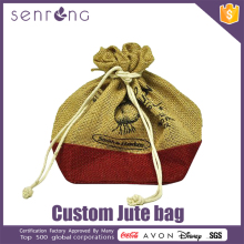 Jute Adversing Bag Burlap Fabric Wine Bottle Jute Bag