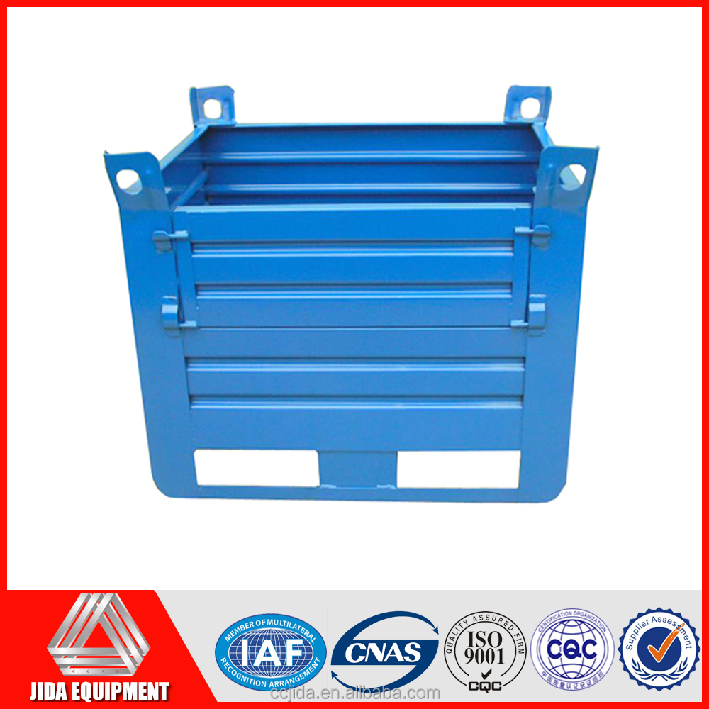 Hot sales metal liquid container for transport warehouse foldable box folding metal box pallet
