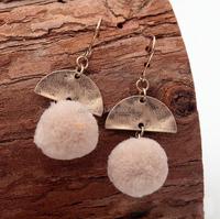 DEMI Wholesale chandelier earrings design fashion vintage pom pom earrings
