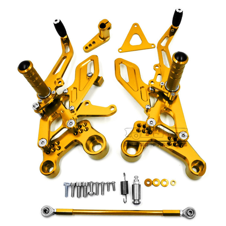 BJ-ARS-MT09B for Yamaha MT09 FZ09 2013-2017 Motorcycle CNC Racing Adjustable Rearset Foot Pegs