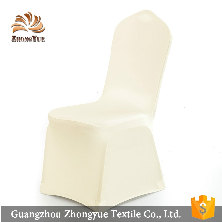 Wedding decoration white hot sale durable chair covers for banquet