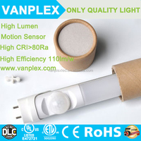 hot sex tube 2014 t8 led tube led sensor tube light T8 1200mm 4ft 18W PIR led infrared motion sensor t8 led tube light