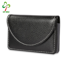 Office women and men PU leather business name card case for holder