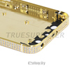 luxury 24kt gold back housing for iphone 5s gold diamond for iphone