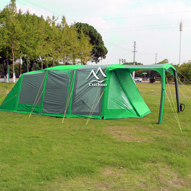 7 meters length unique design camping tent family with 2 rooms
