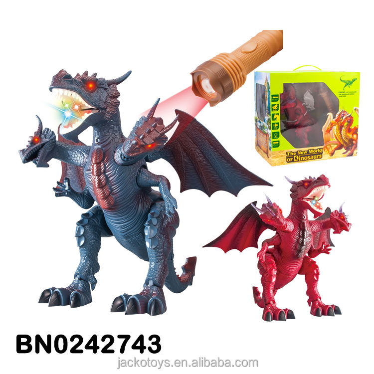 Newest Electric Torch Infrared Remote Control Dinosaur Toys