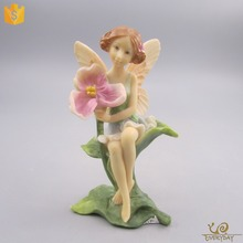 Hot Sale Home Garden Resin Craft Gift Ornament Statue Miniature Cheap Flying Fairy Figurines Wholesale