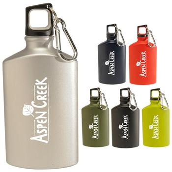 Custom Promotional 2018 new colorful  17 oz Hiking   Flat  Aluminum Bottle with your band
