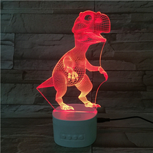 Bluetooth Speaker 3d Lamp Illusion Smart Touch Base Led Night Light With Color Lights