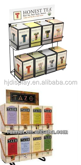 Metal Wire Display Stand Store Retail Rack Tea Bag Tea Leave Stand
